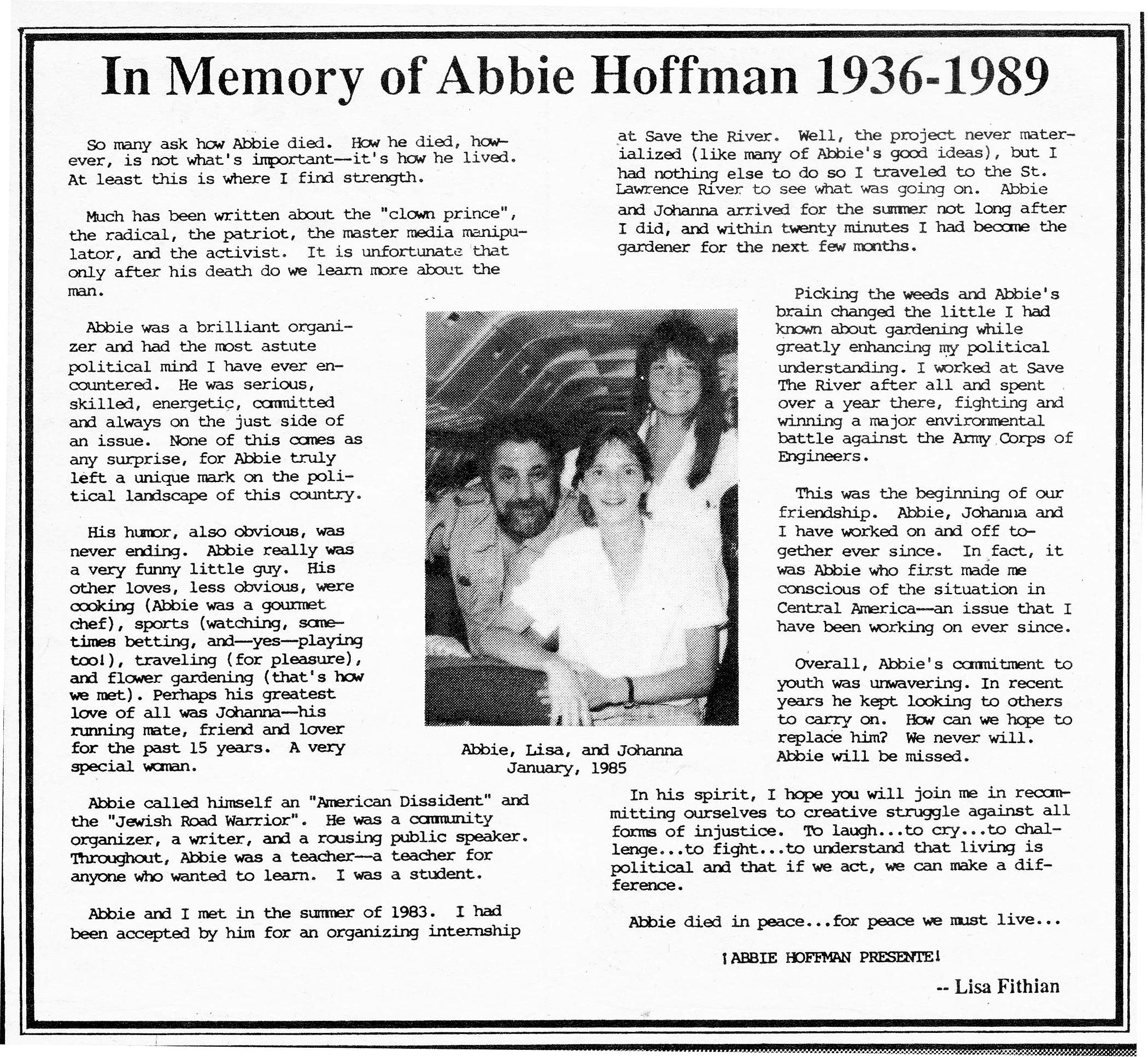 In Memory of Abbie by Lisa